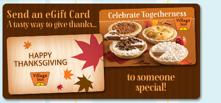 Send an eGift Card A Tasty way to give thanks... To Someone Special