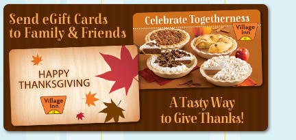 Send eGift Cards to Family & Friends. A Tasty Way to Give Thanks!