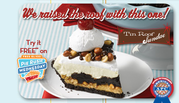 We raised the roof with this one! Tin Roof Sundae