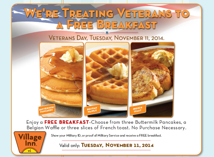 We're Treating Veterans to a Free Breakfast